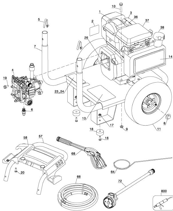 Honda Power Washer Replacement Parts