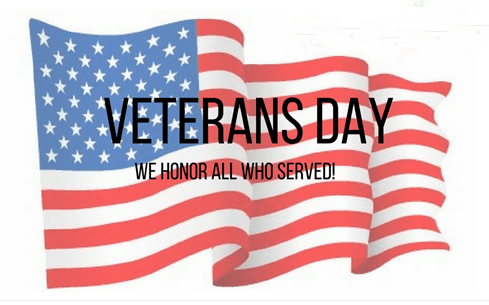Veterans Day - We Honor All Who Served