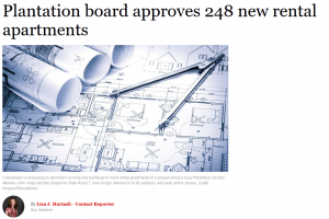 Plantation Board Approves 248 New Rental Apartments