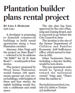 Plantation Builder Plans Rental Project