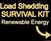 Eskom Load Shedding, home solar kits, candles, renewable energy, omnipower, survival kit, lightning strikes, light bulb, lithium batteries, cabling, distribution board
