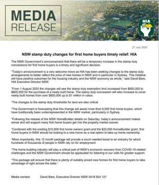 NSW-Stamp-Duty-Pause-Extended-HIA-Media-Release