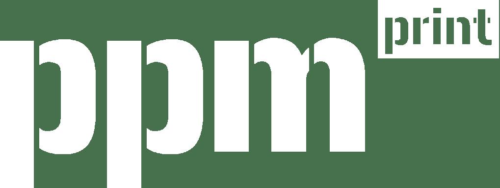 ppm print logo warrington white