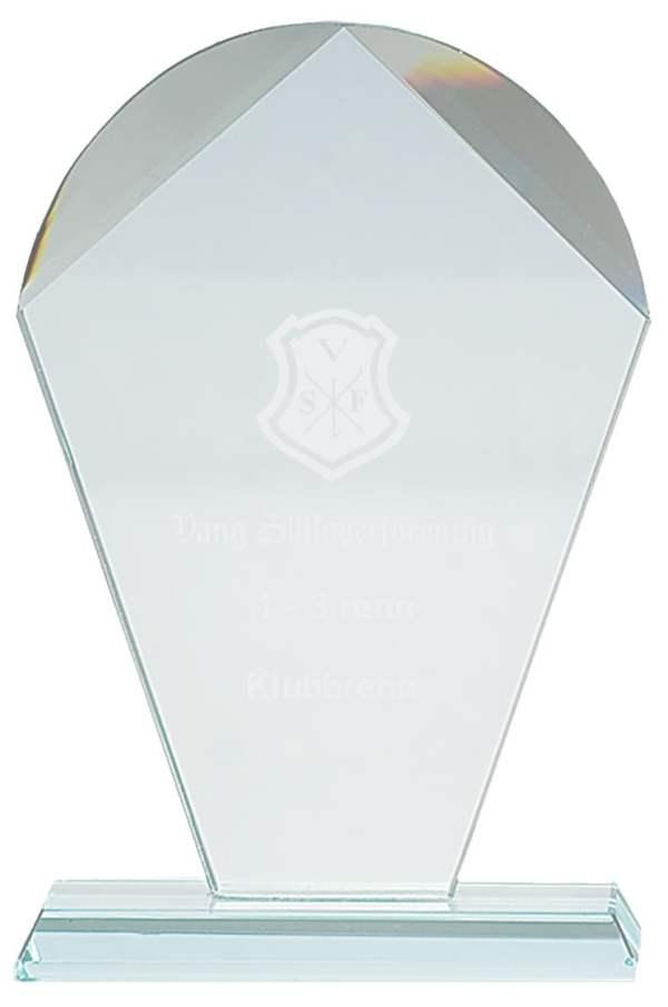 Plakett i krystall CR.10 3