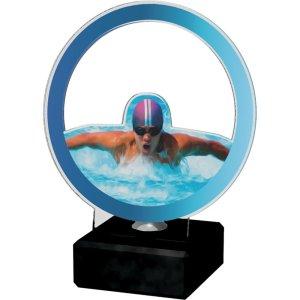 Akrylstatuett Svømming