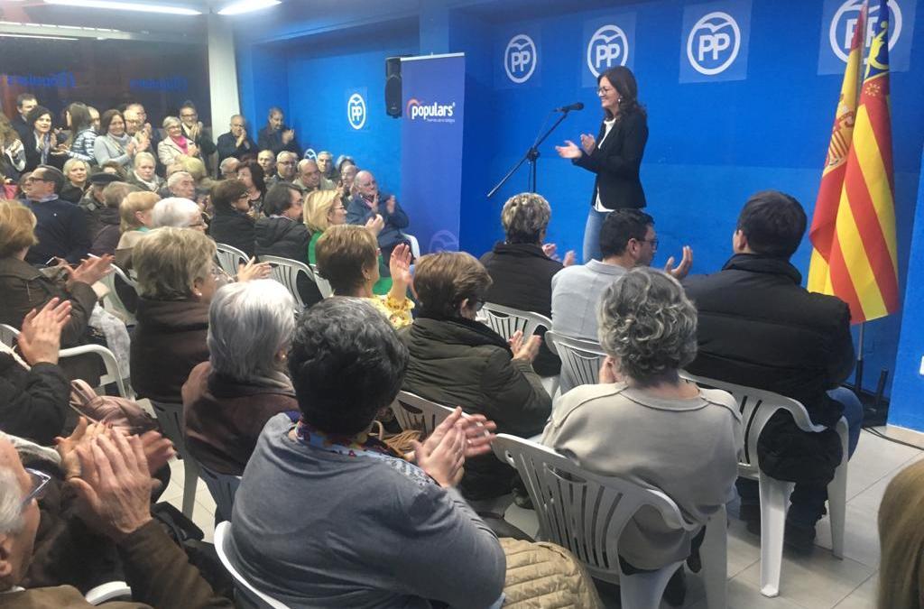 Los Populares de Tavernes presentan a Eva Palomares como candidata a la alcaldía e inauguran nueva sede en un acto multitudinario