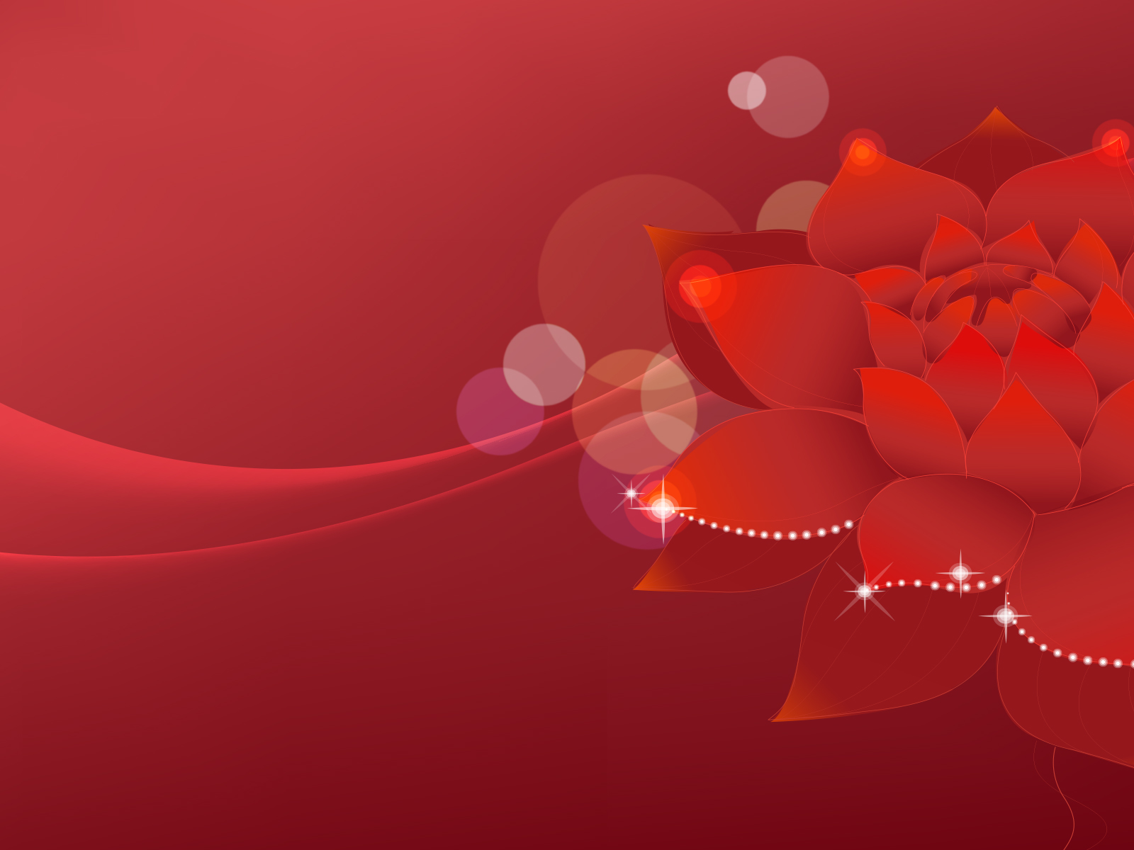 Lotus Flowers Dream Backgrounds Flowers Red Templates