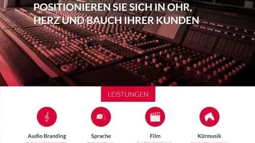 diseño web design sound creative