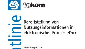 Bereitstellung von Nutzungsinformationen in elektronischer Form - eDok © tekom