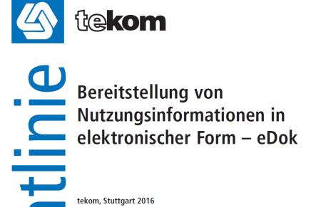 Bereitstellung von Nutzungsinformationen in elektronischer Form — eDok