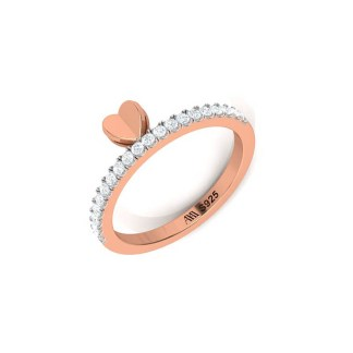 Flying Kiss Ring In Rose Gold