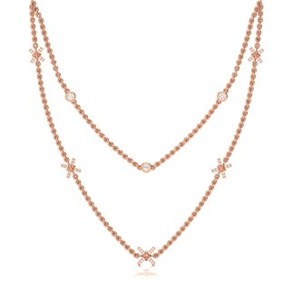 Sparkle Knot Necklace In Rose Gold