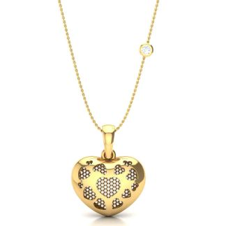 The Impressions Of A Gold Heart Necklace