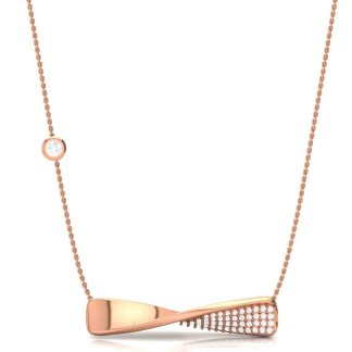 Twists and Turns of Life Necklace in Rose Gold