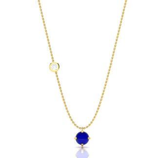 The Blue Stone Gold Necklace