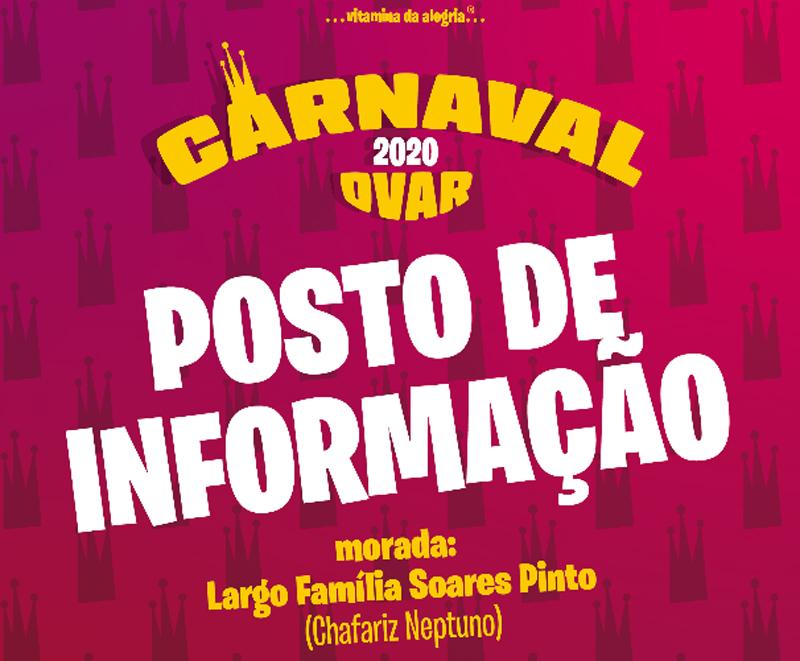 Câmara Municipal abriu Posto de Informação do Carnaval de Ovar