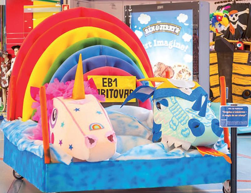 Dolce Vita recebeu exposição de carros alegóricos do Carnaval Infantil