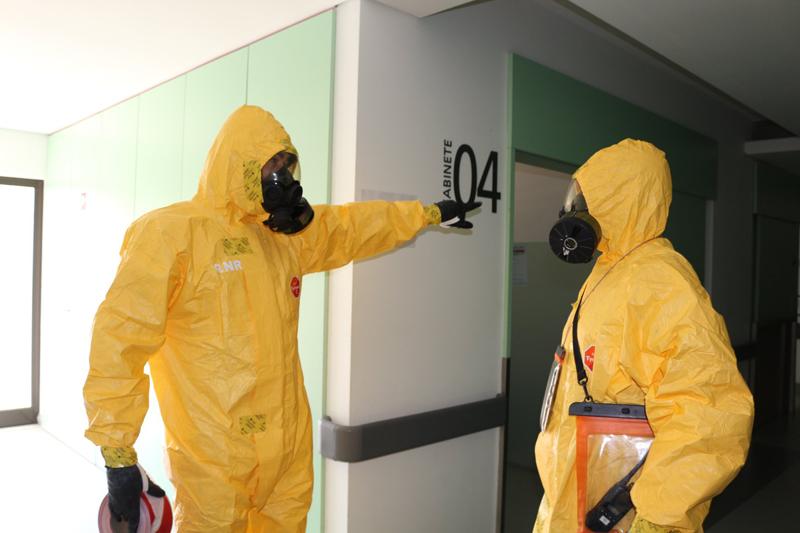 GNR descontaminou Área da Consulta Externa do Hospital de Ovar