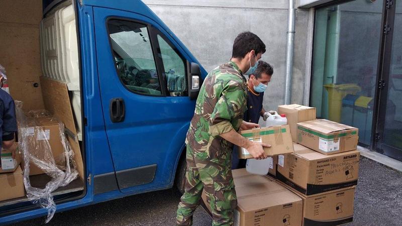 Força Aérea apoiou o Ministério da Educação com o transporte de material para as escolas