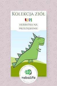 herbatka na przeziębienie dla dzieci etykiety, mieszanki ziołowe, rebalife Karta produktu Pracownia ziół i zdrowej żywności Rebalife-55