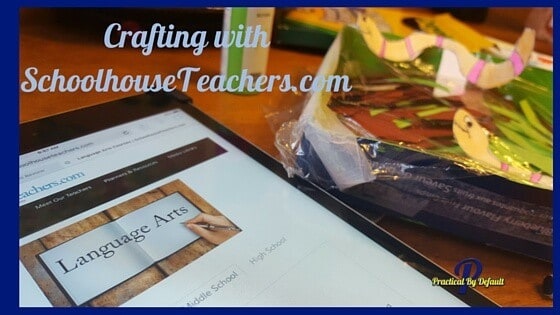 SchoolhouseTeachers.com Langauge Arts Review, my daughter loves the idea of crafting to learn