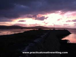 dark sky over bay illustrating a creative writing article about choosing your story themes