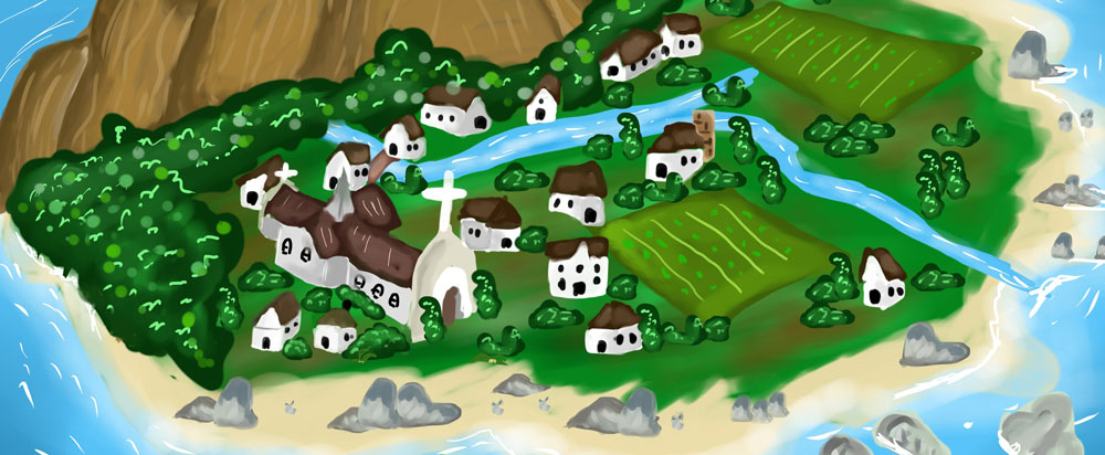 little Irish town illustrating article about writing the Ballyahoo series of books by Grace Jolliffe