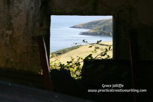 sea view seen through a window illustrating an article about how the mental editor affects creative writing