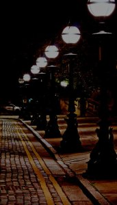 dark street illustrating a post about a short story called Fiction Street by Grace Jolliffe