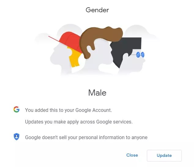 Demographics info such as age and gender come from your Google account.
