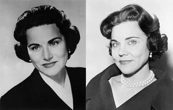 "Sisters Pauline and Esther were known to millions by their advice columns ""Dear Abby"" and ""Ask Ann Landers."" These pictures were taken in 1961."