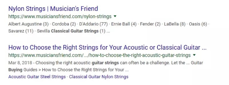"The content post from Musician's Friend of ""How to Choose to Right Strings for Your Acoustic or Classical Guitar"" is compelling."
