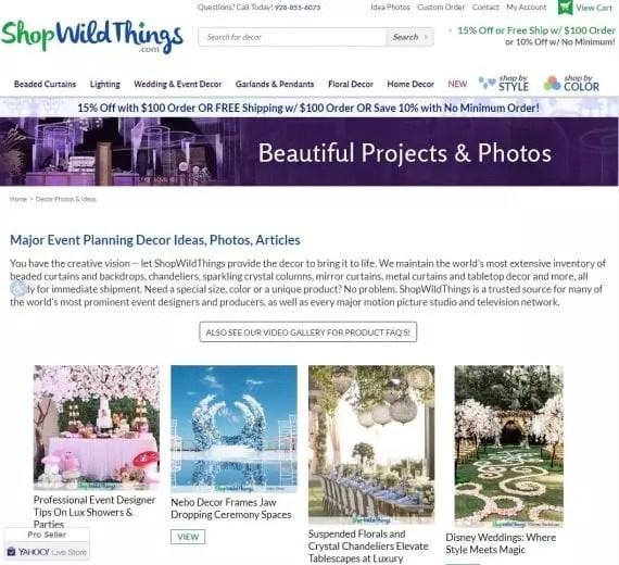 ecommerce idea gallery example