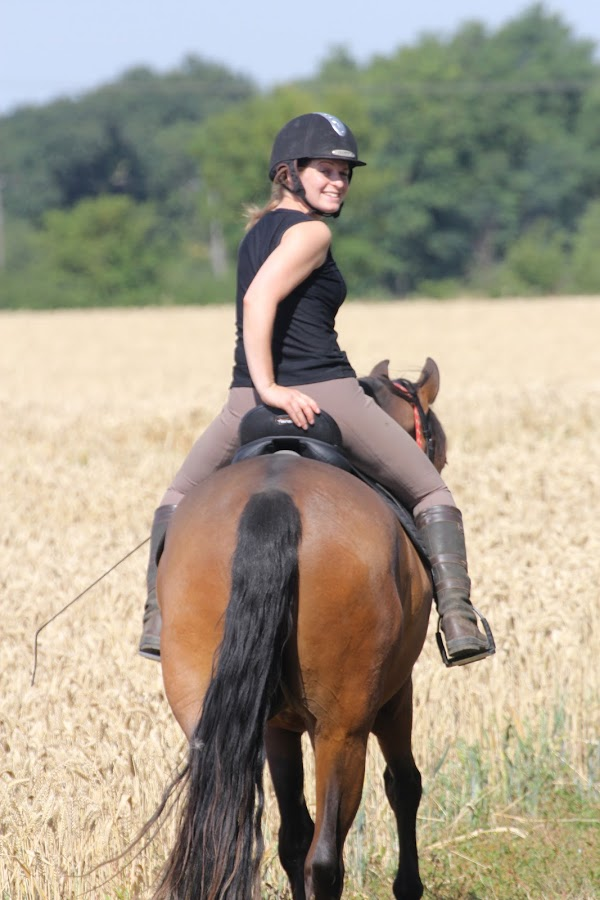 Briony and her horse Viggo