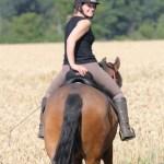 Briony and her horse Viggo
