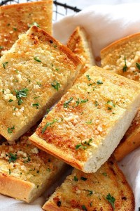 home made garlic bread