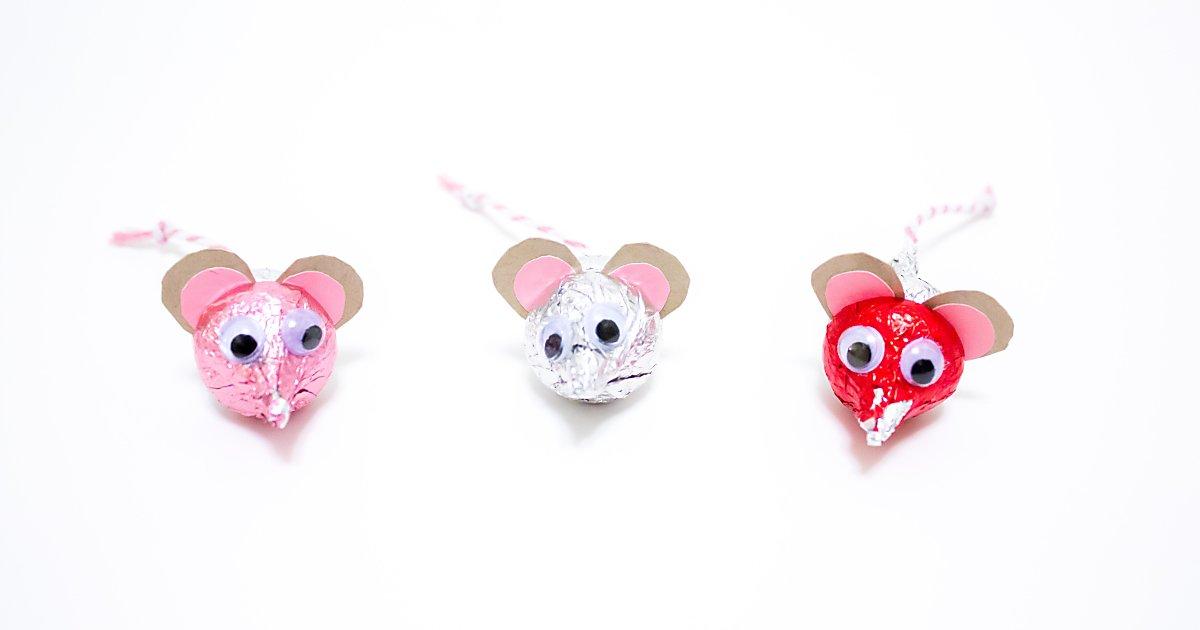 Hersheys Kisses Mice For Valentines Day