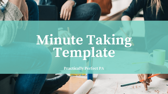 Minute Taking Template
