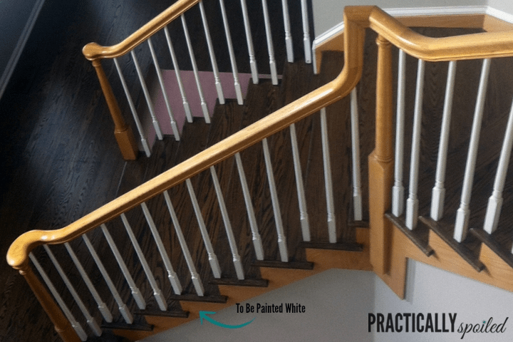 How To Gel Stain *Gly Oak Banisters | Cost Of Staining Stairs | Stair Railings | Hardwood | Stair Tread | Handrail | Basement Stairs