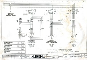Electrical schematic for two speed motor mystery (image)