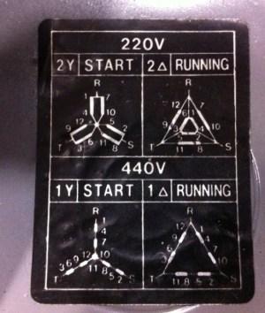 Strange 220440 motor wiring diagram (photo)