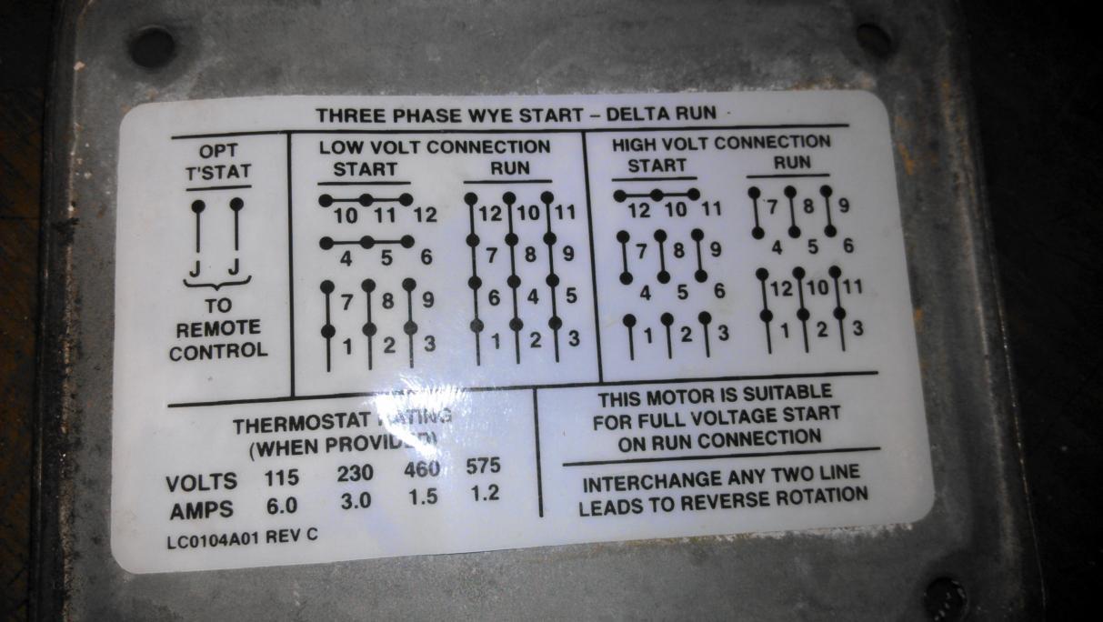 3 phase 480 volt 6 lead motor wiring diagram 480 volt 3