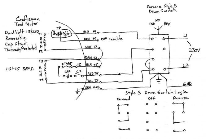 capacitor start motor wiring diagram craftsman capacitor capacitor start capacitor run motor wiring diagram the wiring on capacitor start motor wiring diagram craftsman