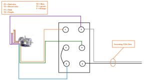 Help wiring single phase 110v motor to drum switch