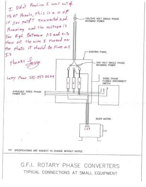 Rotary Phase Converter Help and Troubleshooting