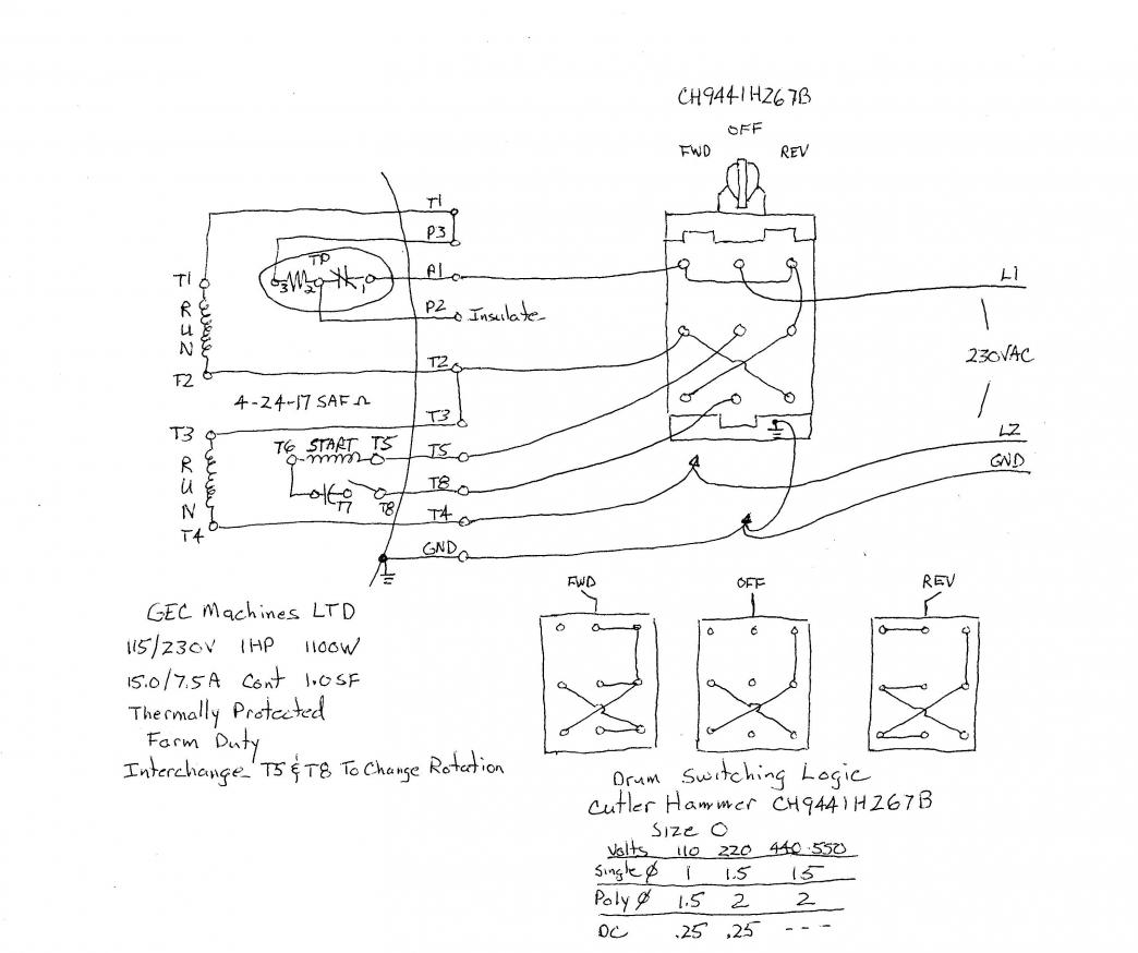 cutler hammer drum switch wiring diagram. Black Bedroom Furniture Sets. Home Design Ideas