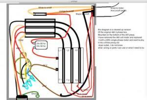 17430 drill press 220 volt single phase wiring help