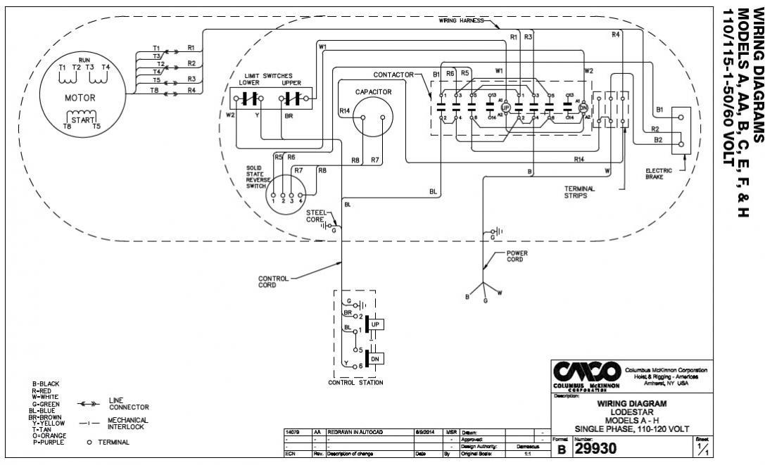 Cm Hoist Wiring Diagram Dolgularcom - Hoist Wiring Diagram