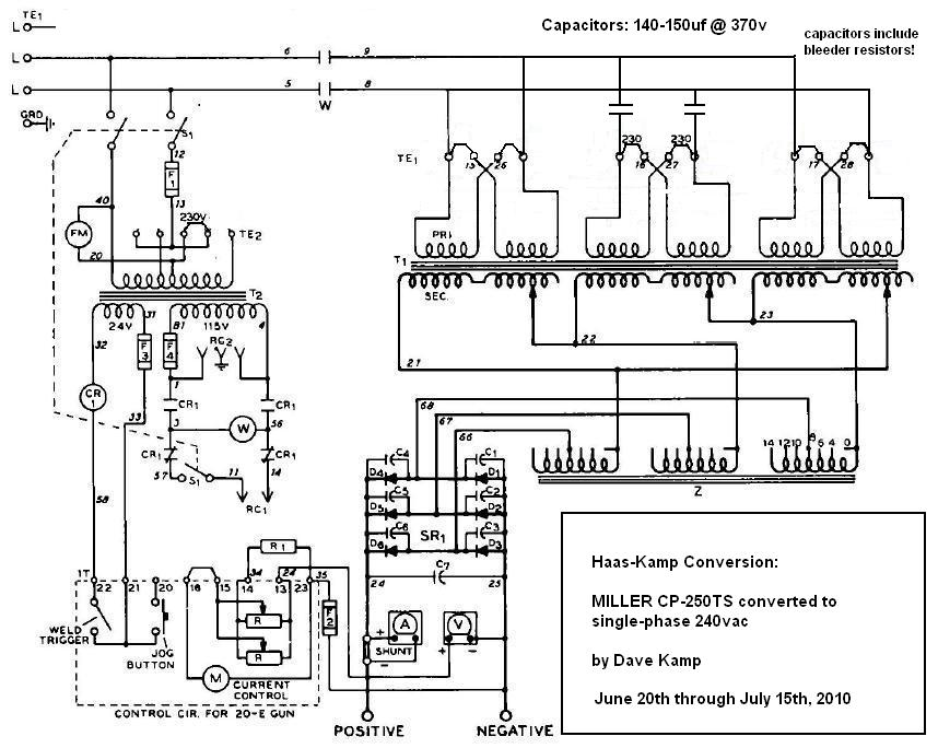 23916d1277342324 miller cp 250ts converted single phase schem after mod transformer wiring diagram single phase efcaviation com 480v transformer wiring diagram at webbmarketing.co