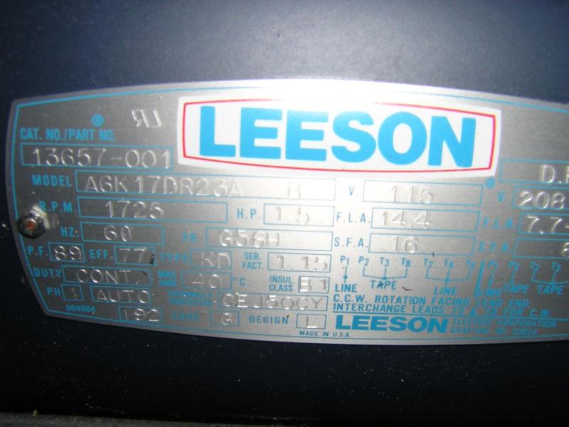 Leeson 3 Phase Motor Wiring Diagram : 35 Wiring Diagram Images ...
